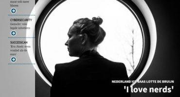 Interview Lotte de Bruijn in Intermediair: 'I love nerds'